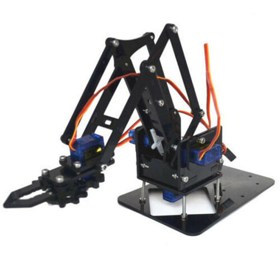 Kids DIY Robot Arm Claw Arduino Kit Mechanical Grab Manipulator Assembled toys