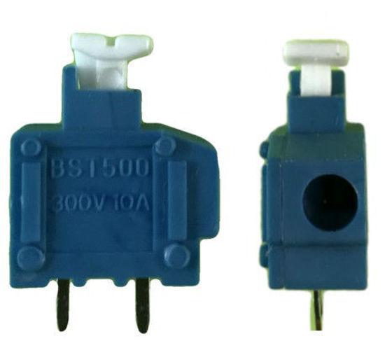 "Screwless Terminal Block -  .1"" 2.54mm - Single Pole - Blue"