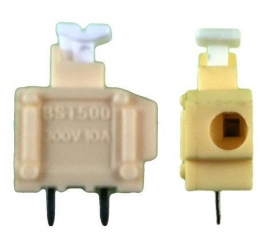 "Screwless Terminal Block -  .1"" 2.54mm - Single Pole - Yellow"